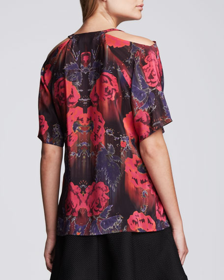 Extraterrestrial Top With Shoulder Cutout