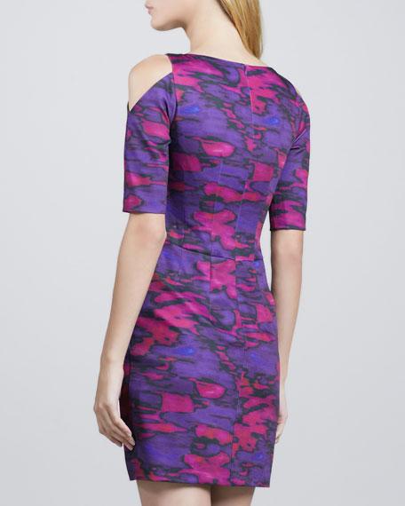 Zircon Open-Shoulder Dress