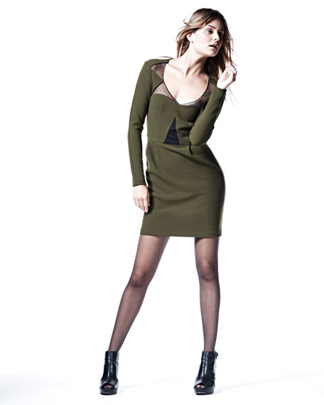 Transporter Mesh-Inset Dress
