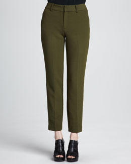 Nanette Lepore Satellite Cropped Crepe Pants