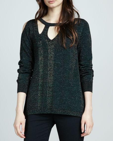 Warp Speed Shimmery Sweater