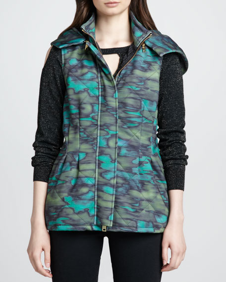 Stratosphere Printed Puffer Vest
