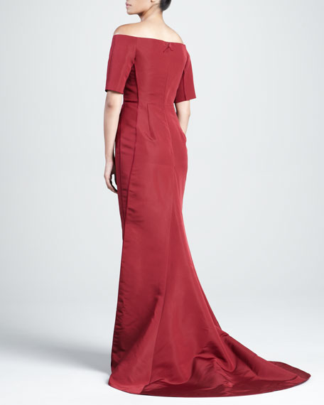 Silk Faille Off-the-Shoulder Gown