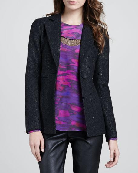 Planetary Shimmery Woven Blazer