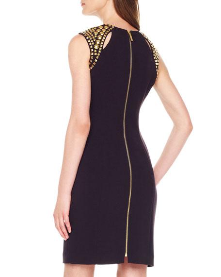 Stud-Shoulder Dress