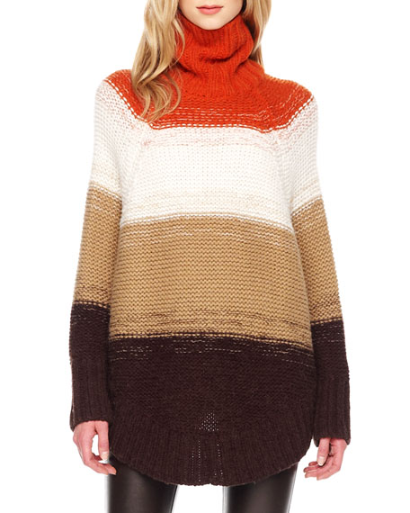 Wide-Stripe Poncho