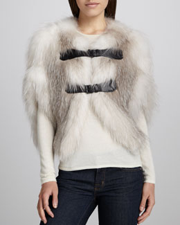 J. Mendel Fox Cropped Cape