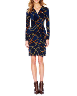 MICHAEL Michael Kors  Belt-Print Wrap Dress, Women's