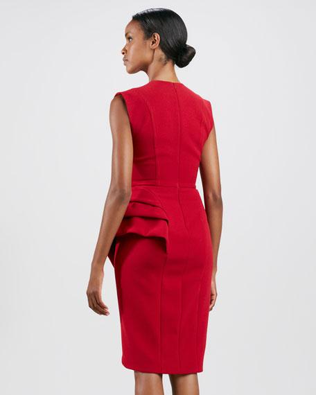 Sleeveless Wrap-Skirt Cocktail Dress
