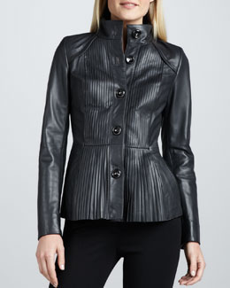 Jo Peters Peplum Lambskin Jacket