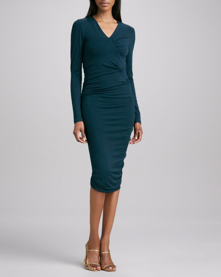 Gathered Fitted Dress