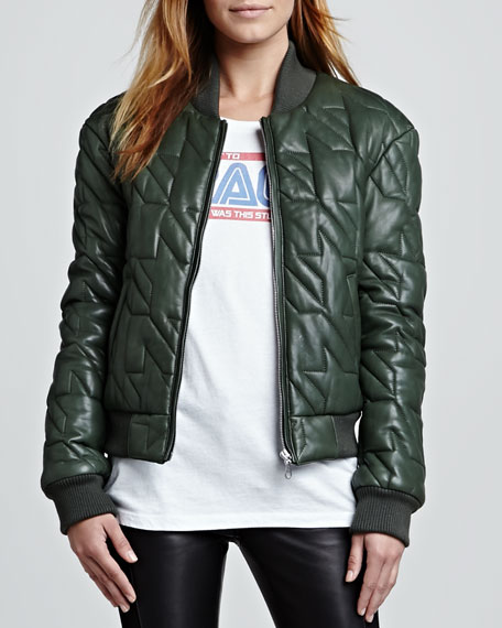 Nova Quilted Leather Jacket
