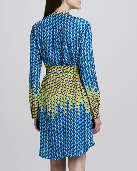Paradox Printed Tie-Waist Dress