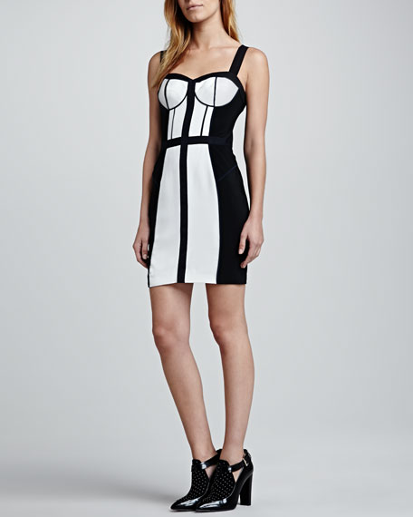 Clarissa Two-Tone Bustier Dress