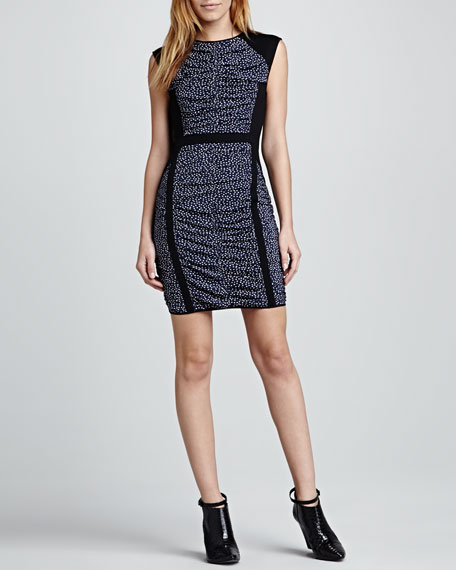 Madison Dotted Fitted Dress