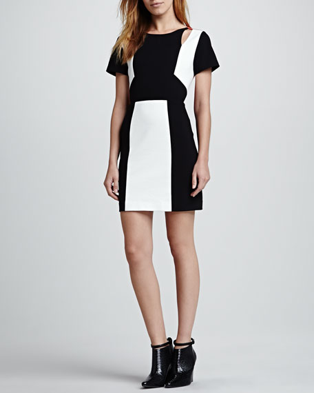 Crystal Colorblock Ponte Dress