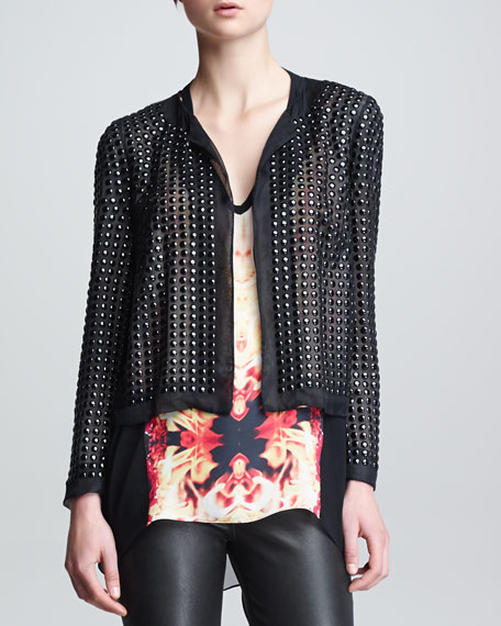 Beaded Organza Jacket