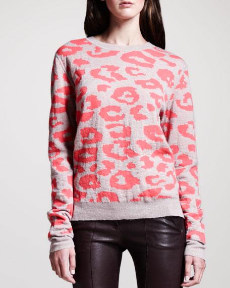 Grimal Animal-Print Knit Sweater