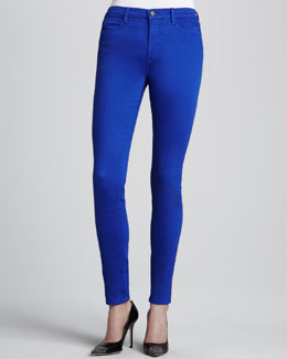 J Brand Jeans Maria Power-Stretch High-Rise Jeans, Iris