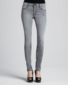 J Brand Jeans 620 Mid-Rise Super Skinny Photo Ready Jeans, Onyx