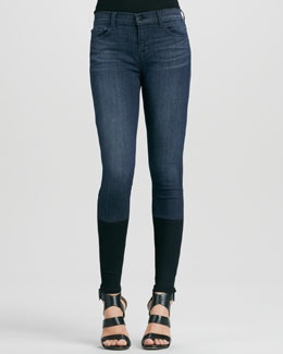 J Brand Jeans Snowbird Knit-Cuff Skinny Photo Ready Jeans