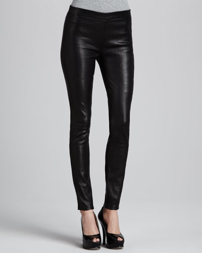 J Brand Jeans Leather Leggings with Elastic Waist