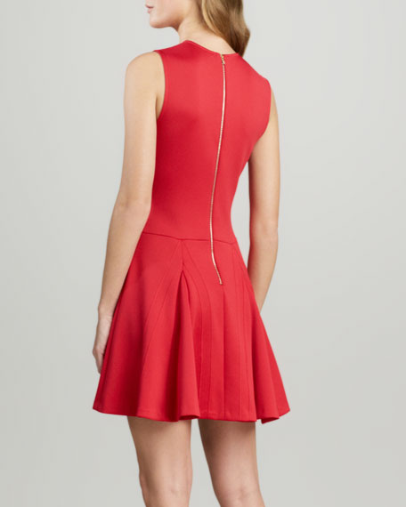 Fit-and-Flare Ponte Dress
