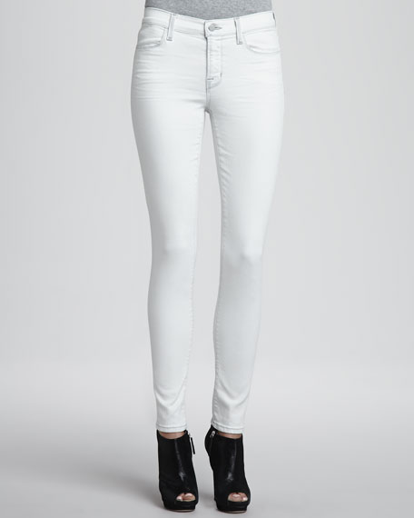 Mid-Rise Stretch Denim Jeans, Frostbite