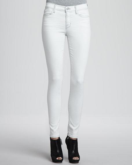 Mid-Rise Stretch Denim Jeans, Frostbite