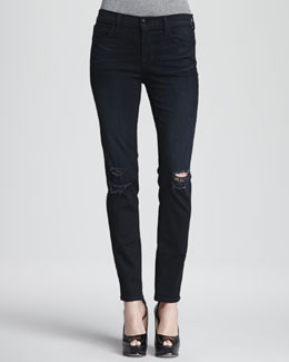 J Brand Jeans Super Skinny Distressed Jeans
