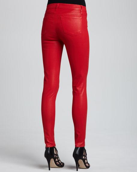 815 Adra Mid-Rise Super Skinny Coated Jeans