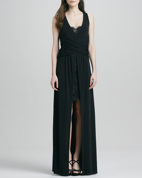 Alcazar Lace-Detail Jersey Gown