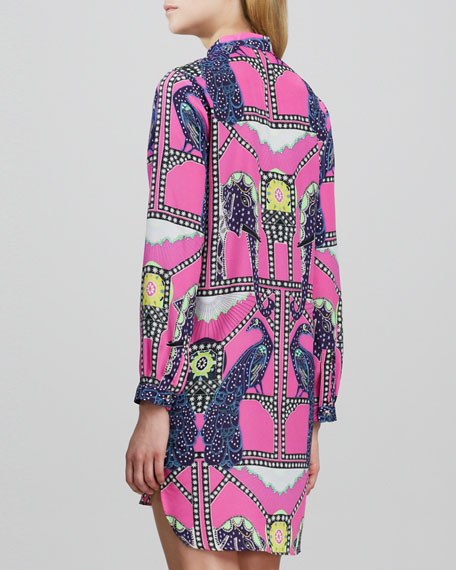 Caravan Printed Shirtdress with Cutout