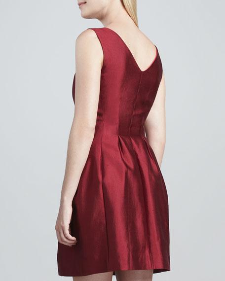 alanis raw silk-cotton dress