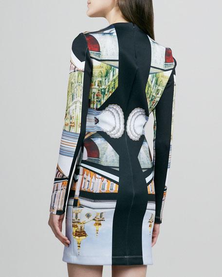 Metro Palace Plate Long-Sleeve Dress