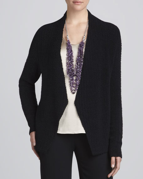 Silk Sheen Jacquard Jacket