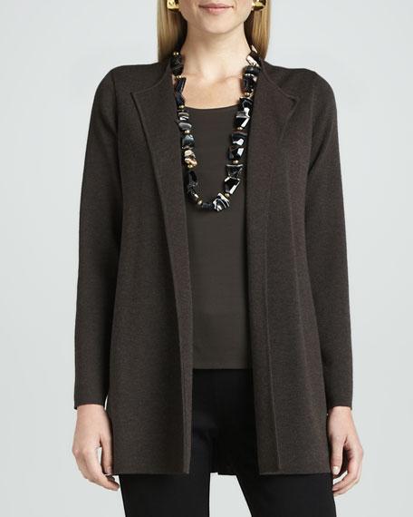 Washable-Wool Long Jacket