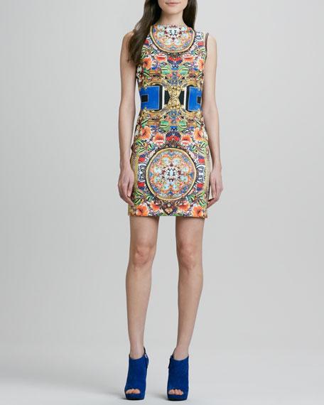 Russian Room Printed V-Back Dress