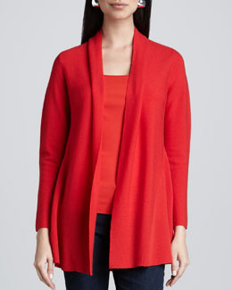 Eileen Fisher Merino Links Cardigan, Petite
