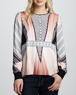Clover Canyon Ballerina Diamond Printed Top