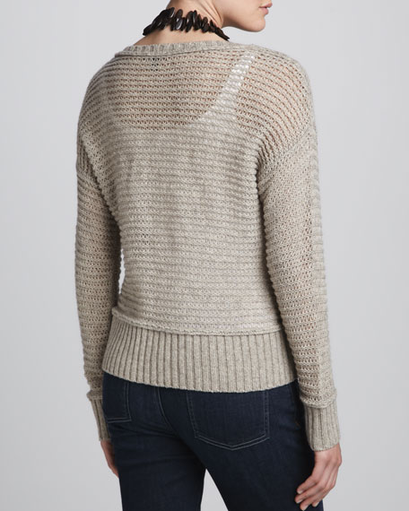 V-Neck Boxy Knit Top