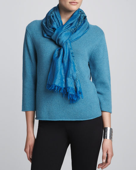 Cross-Dyed Silk/Cashmere Wrap