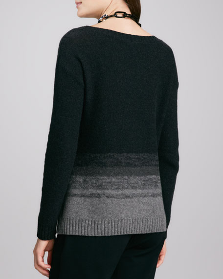 Sweater with Ombre Stripes