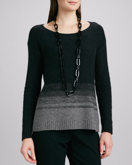 Sweater with Ombre Stripes, Women's