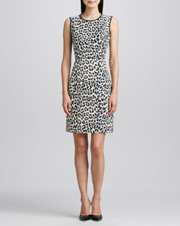 kate spade new york paulina animal-print dress