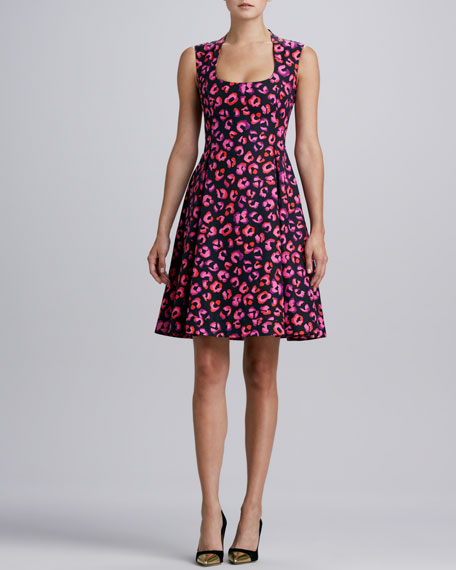 kimi printed sleeveless dress