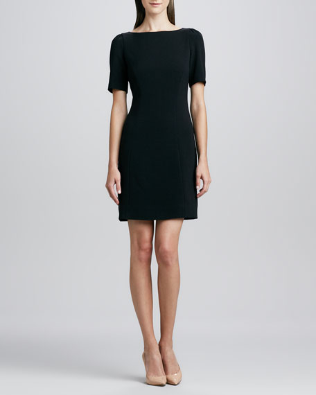 benedicta sheath short-sleeve dress