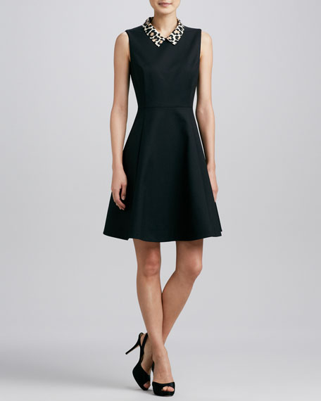 rissa three-Sleeveless Jersey dress
