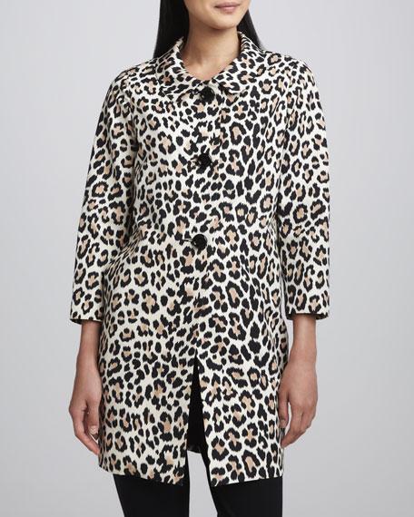Franny Animal-Print Coat