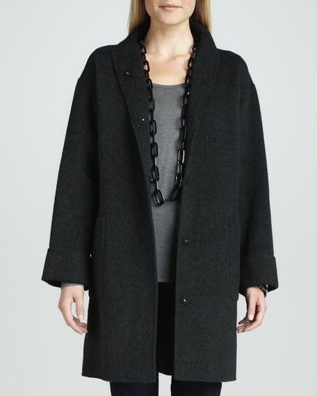 Brushed Double-Face Wool Coat